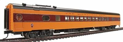 Walthers Milwaukee Road 1955 ''Twin Cities Hiawatha'' Streamlined Cars Assembled -- Coach #535 Series - HO-Scale