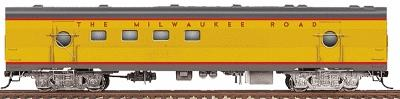 Walthers Milwaukee Road Railway Post Office Car #2152-53 - Ready to Run -- Milwaukee Road (UP City Scheme, Armour Yellow, gray) - HO-Scale