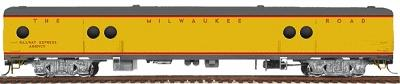 Walthers Milwaukee Road Express Car w/Conductors Window #1330-36 - Ready to Run -- Milwaukee Road (UP City Scheme, Armour Yellow, gray) - HO-Scale