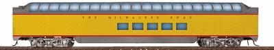 Walthers Milwaukee Road Yellow & Gray Streamlined Cars Assembled -- Pullman-Standard Super Dome #50-59 - HO-Scale