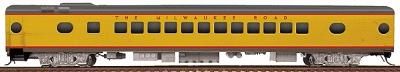 Walthers Milwaukee Road #535-Series 52-Seat Coach - Ready to Run -- Straight Sills & Disc Brakes (UP City Scheme, Armour Yellow, gray) - HO-Scale
