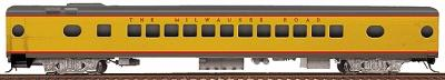Walthers Milwaukee Road #498-Series 52-Seat Coach -- HO Scale Model Train Passenger Car -- #9301