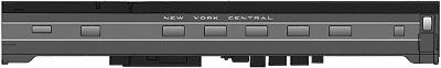 Walthers 1948 20th Century Limited Club-Lounge - Ready to Run -- New York Central Shore Series (2-Tone Gray) - HO-Scale