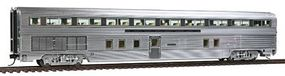 Walthers Santa Fe El Capitan Streamlined Car w/Plated Finish - Ready to Run Budd 85 Hi-Level 72-Seat Coach #700-724 - HO-Scale