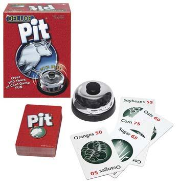 Winning Moves Deluxe Pit with Bell -- Card Game -- #1019