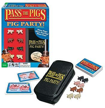 Winning Moves Pass the Pigs Pig Party Edition -- Dice Game -- #1149