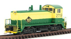 WalthersN EMD SW1200 Standard DC Reading #2719 (yellow, green) N-Scale