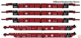 WalthersN 5-Unit Articulated 48 Well Car Santa Fe SFLC #254181 - N-Scale
