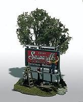 Woodland The Sign Painter (Roadside Billboard) Mini-Scene HO-Scale Unpainted Metal Kit #105