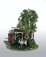 Woodland Mini Scene Tack Shed Kit HO Scale Model Railroad Building #106