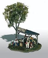 Woodland Ernie's Fruit Stand HO Scale Mini-Scene Unpainted Metal Kit Model Railroad Building #109