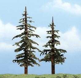 Woodland Scenics Lodgepole Pines 4-5'' pkg(2) -- Ready Made Premium Trees -- Model Railroad Tree -- #1627