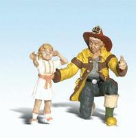 Woodland Scenic Accents Fireman Bill & Betsy G Scale Model Railroad Figures #2539