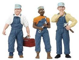 Woodland Train Mechanics (3) G Scale Model Railroad Figure #2549