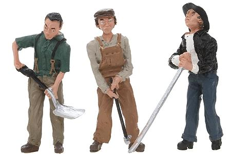 Woodland Scenics Scenic Accents Rail Workers -- G Scale Model Railroad Figures -- #2562