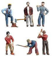 Woodland Lumberjacks O Scale Model Railroad Figure #2735