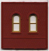 Woodland DPM Dock Level Arch Window (4) HO Scale Model Railroad Building Accessory #30103