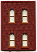 Woodland DPM 2 Story/4 Arch Window (4) HO Scale Model Railroad Building Accessory #30108