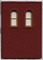 Woodland DPM 2 Story/2 Arch Window Wall (4) HO Scale Model Railroad Building Accessory #30109