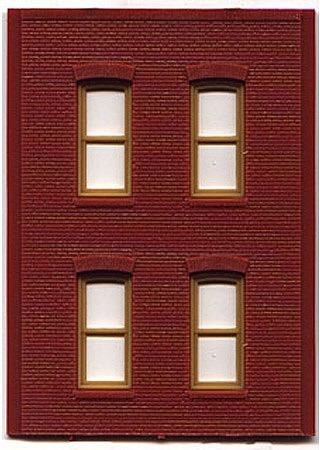 Woodland DPM 2 Story/4 Rectangle Windows (4) HO Scale Model Railroad Building Accessory #30138