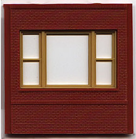 Woodland DPM Dock Level 20th Century Window (4) HO Scale Model Railroad Building Accessory #30163