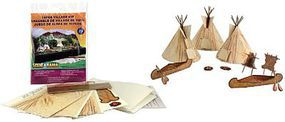 Woodland Scene-A-Rama Tepee Village Set Model Railroad Scenery #4133