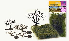 Woodland Small Trees Kit pkg(5) Scene-A-Rama(TM) Model Railroad Trees #4193