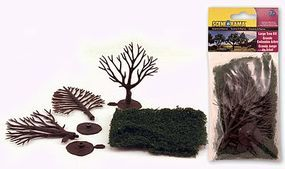 Woodland Large Trees Kit pkg(3) Scene-A-Rama(TM) Model Railroad Tree #4194