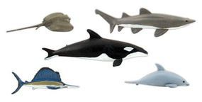 Woodland Marine Life Figures Scene-A-Rama(R) pkg(5) Misc Scale Model Railroad Figure #4447