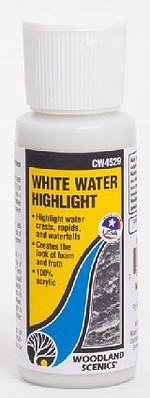 Woodland Scenics White Water Highlight (2 fl.oz.) -- Model Railroad Mold Accessory -- #4529