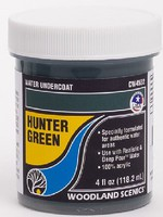 Woodland Water Undercoat Hunter Green (4 fl.oz.) Model Railroad Mold Accessory #4532