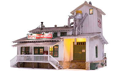 Woodland H&H Feed Mill Built-&-Ready(R) N Scale Model Railroad Building #4949