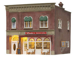 Woodland Emilios Italian Restaurant Built & Ready Structure HO Scale Model Railroad Building #5055