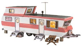 Woodland HO Built-N-Ready Double Decker Trailer LED Lighted