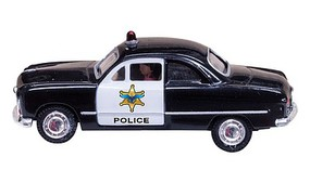 Woodland Just Plug Lighted Police Car N Scale Model Railroad Vehicle #5613