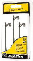 Woodland Just Plug Arched Cast Iron-Type Street Lights (3) HO Scale Model Railroad Street Light #5631