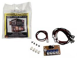 Woodland Lighting Kit for O Scale Built-&-Ready(R) Structures White LEDs & Control Circuit #5790
