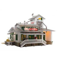 Woodland H&H Feed Mill Built-&-Ready(R) Landmark Structures(R) Assembled O-Scale