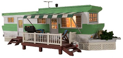 Woodland Grillin & Chillin Trailer Built-&-Ready(R) O Scale Model Railroad Building #5861