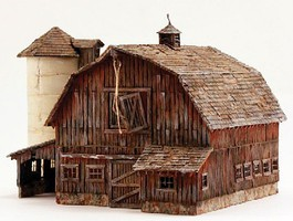 Woodland O Built-N-Ready Old Weathered Barn LED Lighted