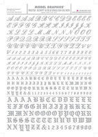 Woodland Script/Old English Letters and Numbers (Silver) Dry Transfer Model Railroad Decals #758