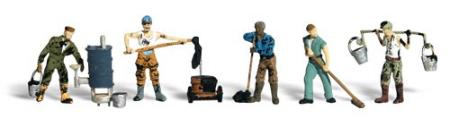 Woodland Scenic Accents Roofers (5) HO Scale Model Railroad Figures #a1828