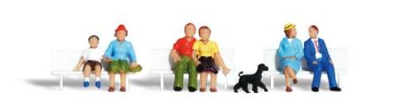 Woodland Sitting & Waiting HO Scale Model Railroad Figures #a1834