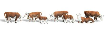 Woodland Hereford Cows HO Scale Model Railroad Figure #a1843