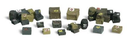 Woodland Assorted Crates HO Scale Model Railroad Building Accessory #a1855
