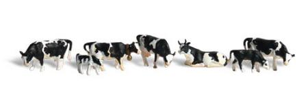 Woodland Holstein Cows HO Scale Model Railroad Figure #a1863