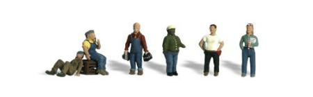 Woodland Factory Workers HO Scale Model Railroad Figure #a1867