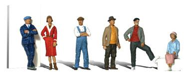 Woodland Scenic Accents Casual People (6) HO Scale Model Railroad Figure #a1874