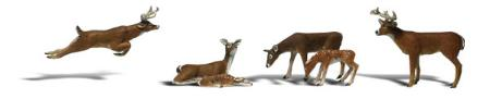 Woodland Deer HO Scale Model Railroad Figure #a1884