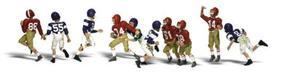 Woodland Youth Football Players HO Scale Model Railroad Figure #a1895